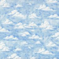 Clouds Blue Sky Nature Landscape Quilt Fabric
