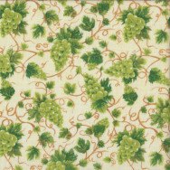 Green Grapes Vines Leaves Fruit Quilting Fabric