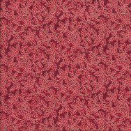 Holly and Berries on Red Quilting Fabric