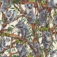 Koalas Australian Animal Gum Tree Eucalyptus Quilting Fabric