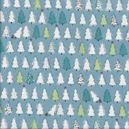 Retro Christmas Trees Mingle and Jingle Quilting Fabric