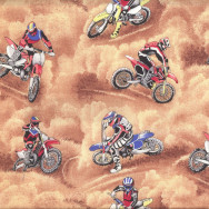 Motocross Dirt Bikes Motorbikes Motorcycles Boys Quilt Fabric