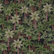 Palm Trees on Black Garden Nature Landscape Quilt Fabric