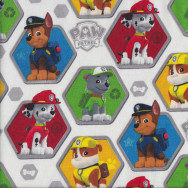 Paw Patrol on White Rocky Chase Marshall Quilting Fabric