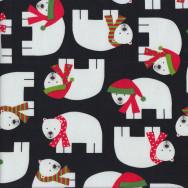 Christmas Polar Bears Quilting Fabric
