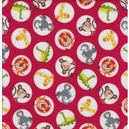 Safari Drive Red Quilting Fabric