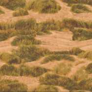 Green Grass on Golden Sand Dunes Quilting Fabric