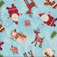 Reindeers Owls Bundle up Quilting Fabric