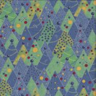 Retro Christmas Trees Seasons Greetings Stars Quilting Fabric