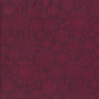 Snowflakes on Burgundy Red A Festive Season Quilting Fabric