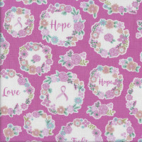 I Believe in Pink Breast Cancer Awareness Quilting Fabric