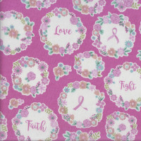 I Believe in Pink Breast Cancer Awareness LAMINATED Water Resistant Slicker Fabric