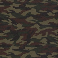 Camouflage Khaki Green Brown Black Quilting Fabric