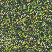 Effervescence Emerald Green Fizzing Bubbles on Black Quilting Fabric
