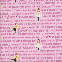 The Wiggles Emma in Tutu on Pink Girls Licensed Quilting Fabric