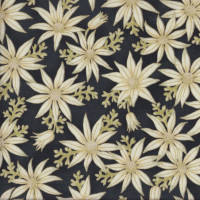 Australian Sun Classic Flannel Flowers on Black Quilting Fabric