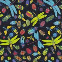 Dragonflies Beetles Ladybirds Quilting Fabric