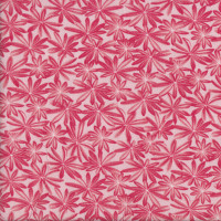 Lupin Leaves on Light Pink A Wildflower Meadow Quilting Fabric