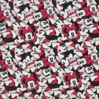 Minnie Mouse on Red Licensed Kids Quilting Fabric