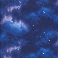 Night Sky on Royal Blue Galaxy Stars Quilting Fabric