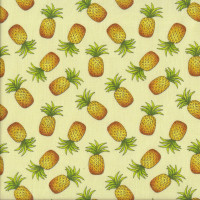 Pineapples on Yellow Fruit Quilting Fabric
