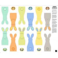 Bunny Bowling Fabric Panel