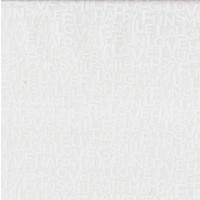 Type Cast Cream Words on White Love Sail Away Quilting Fabric