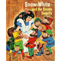 Snow White and the Seven Dwarfs Vintage Look Quilt Fabric Panel
