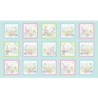 Some Bunny Loves You Easter Eggs Rabbits Quilting Fabric Panel