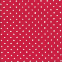 White Stars on Red Ahoy Matey Quilting Fabric