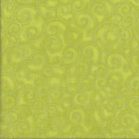 Whimsyland Lime Green Swirls Tonal Basic Quilting Fabric