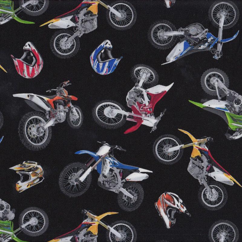 Dirt Bikes Helmets on Black Boys Kids Sport Adventure ...