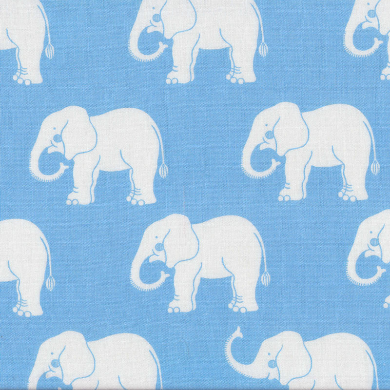 Elephants On Pale Blue Quilting Fabric Find A Fabric