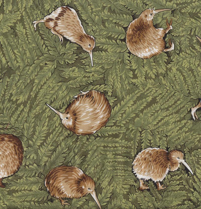 New Zealand Kiwi Birds Ferns Flora Wildlife NZ Quilt Fabric - Find ... : quilting fabric nz - Adamdwight.com