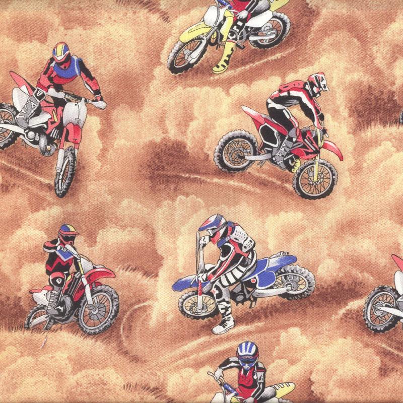 Motocross Dirt Bikes Motorbikes Motorcycles Boys Quilt
