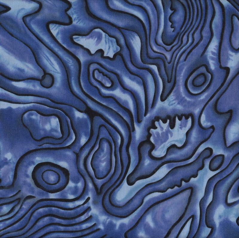 New Zealand Paua Shell Design Blue NZ Quilting Fabric - Find a Fabric : quilting fabric nz - Adamdwight.com
