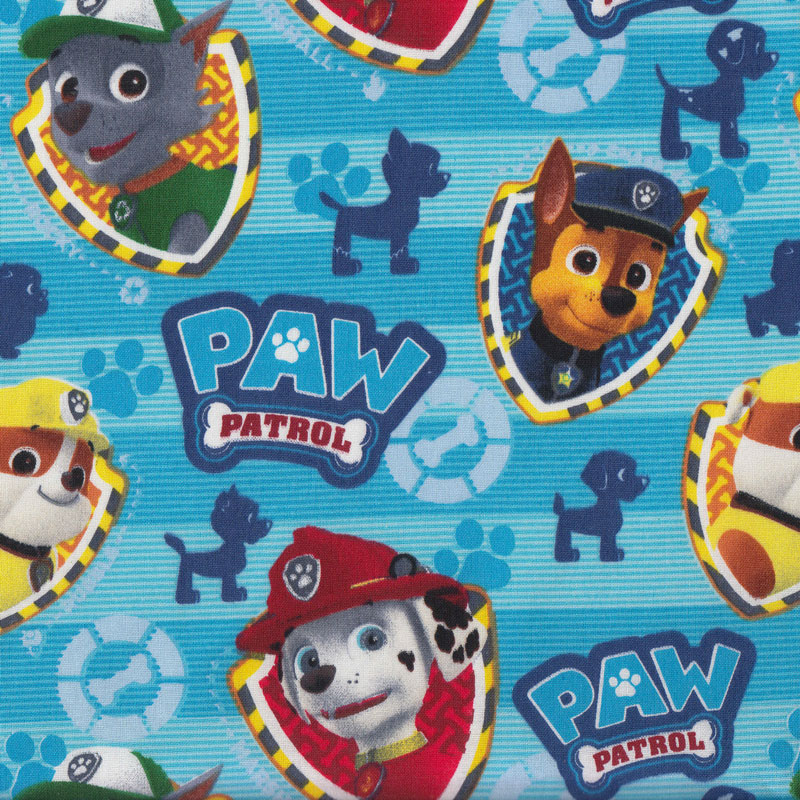 "PAW PATROL GIRL PUP POWER SKYE EVEREST COTTON FABRIC DAVID TEXTILE   15/"" REMNANT"