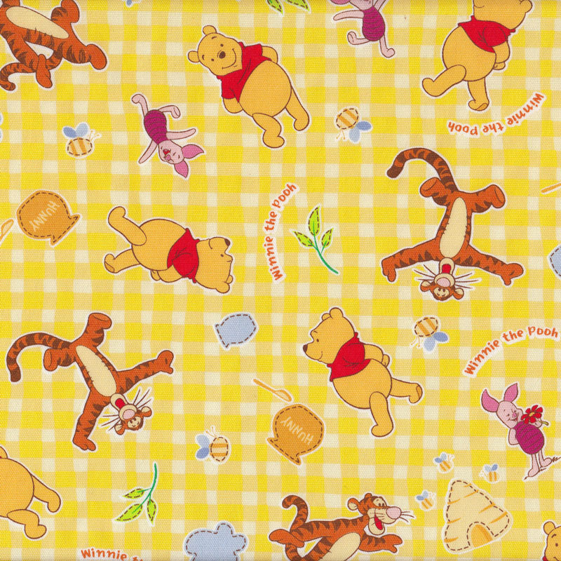 Winnie The Pooh Piglet Tigger Girls Boys Kids Fabric